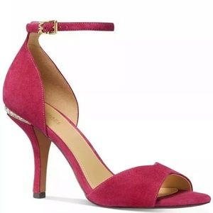 Michael Kors Malinda ankle strap suede sandals 7 M